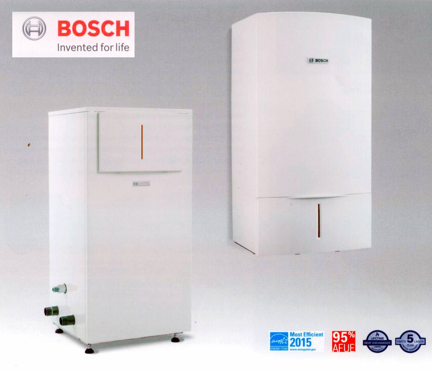 Bosch residential water heating boilers