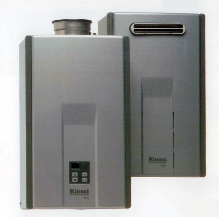 Heat water only when you need it. Rinnai tankless hot water heaters.